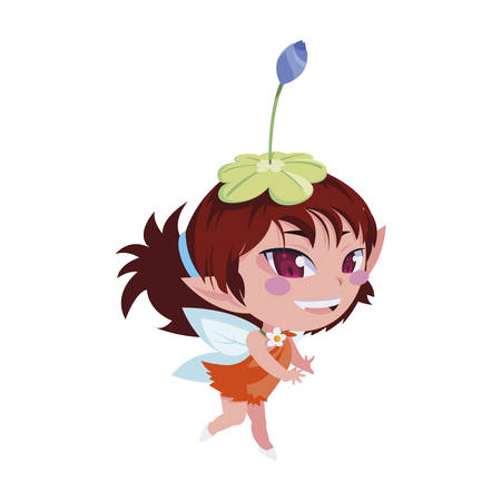 beautiful magic fairy character vector illustration design