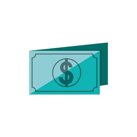 bill dollar isolated icon vector illustration design