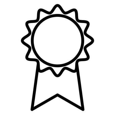medal stamp award icon vector illustration design