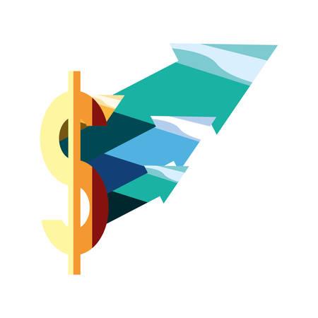 finance up arrows dollar money sign vector illustration Stock fotó - 129992650
