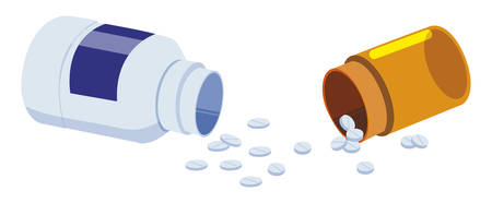 medicine pot drugs icon vector illustration design Stock fotó - 129850428