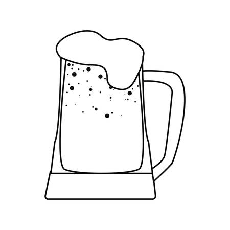 cold beer drink on white background vector illustration