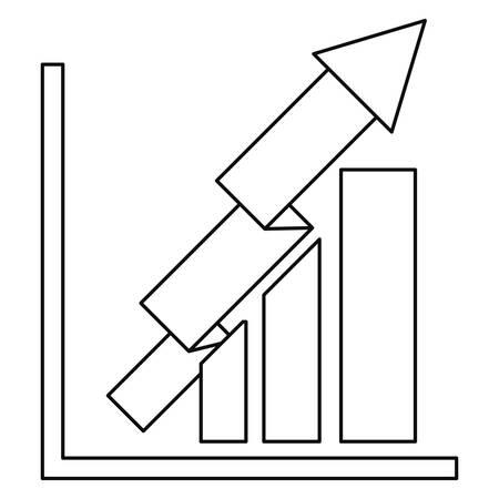 business chart arrow profit vector illustration design Illusztráció