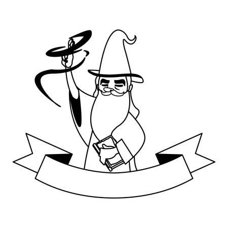 wizard of tales character vector illustration design Ilustração