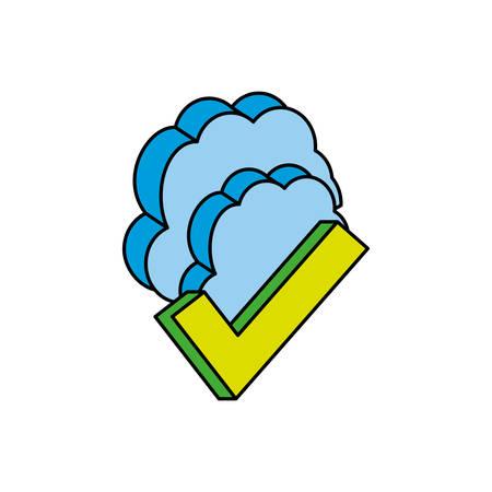 cloud computing server icon vector illustration design