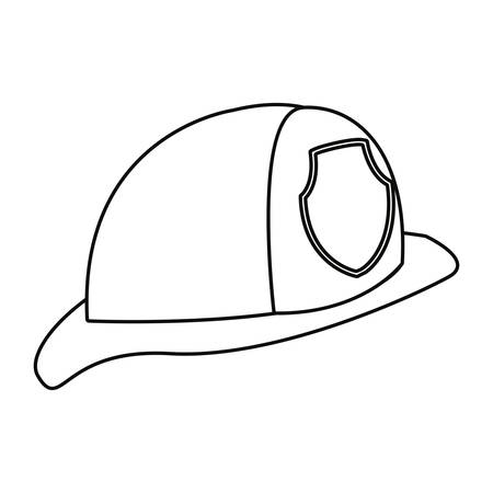 fireman helmet icon tool vector illustration design