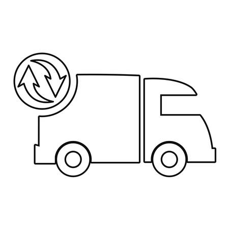 truck delivery fast free shipping vector illustration