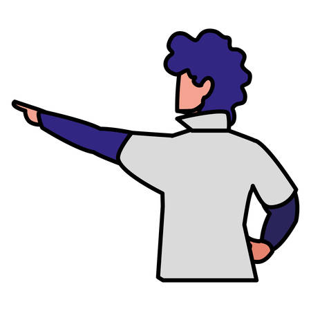 adventurous man avatar character vector illustration design Illusztráció