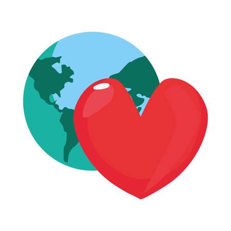 world heart love happy fathers day vector illustration Archivio Fotografico - 129884211