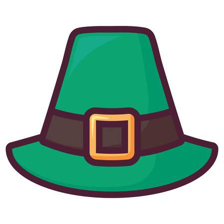 st patricks leprechaun hat vector illustration design