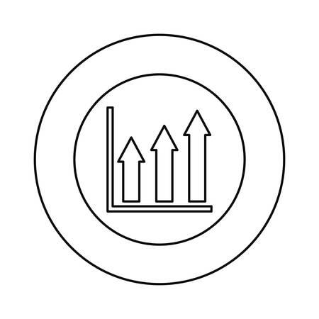 coin chart financial success vector illustration design