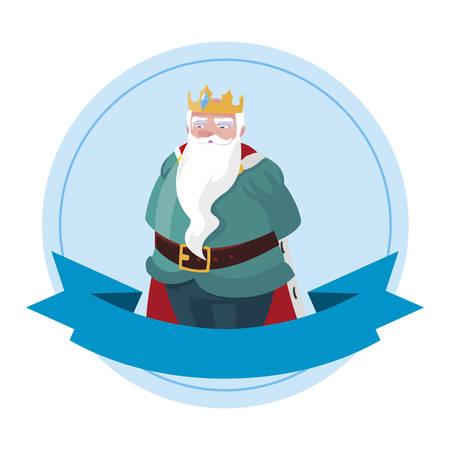 king royal avatar character vector illustration design