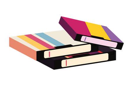 videotape beta box cover retro 80s style vector illustration
