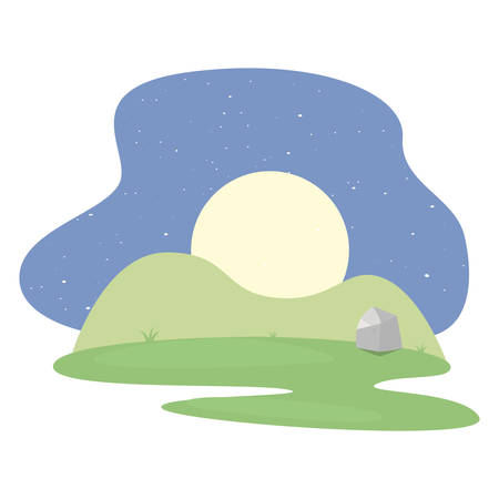 landscape park icon vector illustration Çizim
