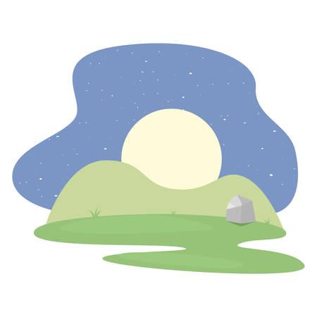 landscape park icon vector illustration Illustration