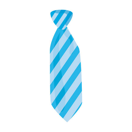 men accessory fashion necktie on white background vector illustration Ilustração