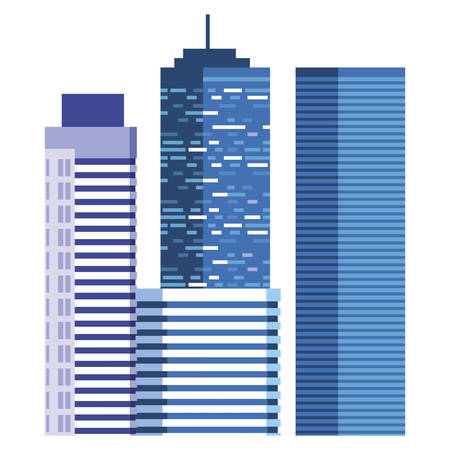 buildings metropolis cityscape scene vector illustration design