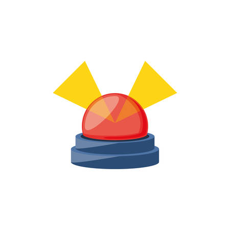 alarm light emergency isolated icon vector illustration design Stock Illustratie