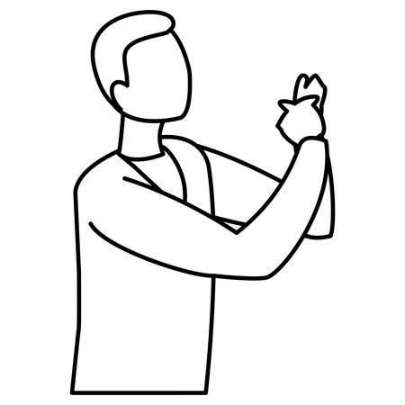 musician jazz character vector illustration design