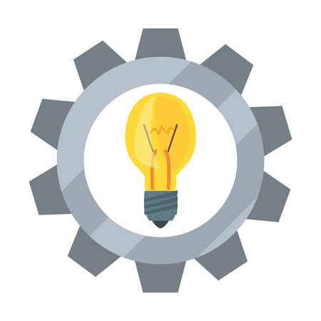 light bulb gear tool vector illustration design