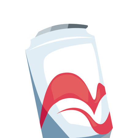 soda can drink retro 80s style white background vector illustration