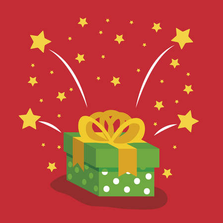 gift box present icon vector illustration design Illusztráció