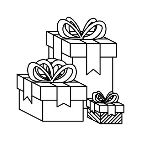gifts boxes presents icon vector illustration design Ilustração