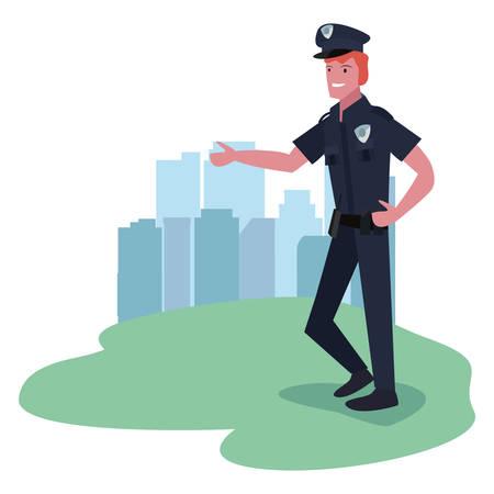 policeman labour day vector illustration design image