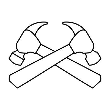 hammer handle wooden tool vector illustration design 일러스트