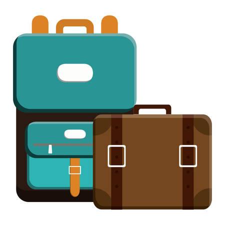 suitcases travel vacations icons vector illustration design Ilustração