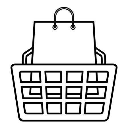 shopping basket and bag vector illustration design