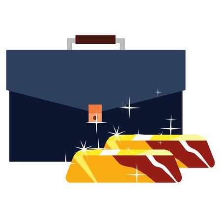 business portfolio gold bars stock vector illustration