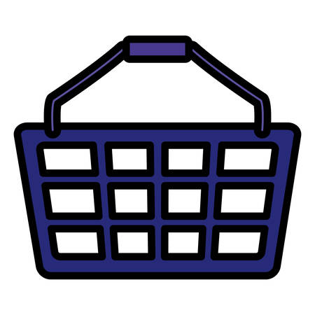 shopping basket isolated icon vector illustration design Foto de archivo - 130155580