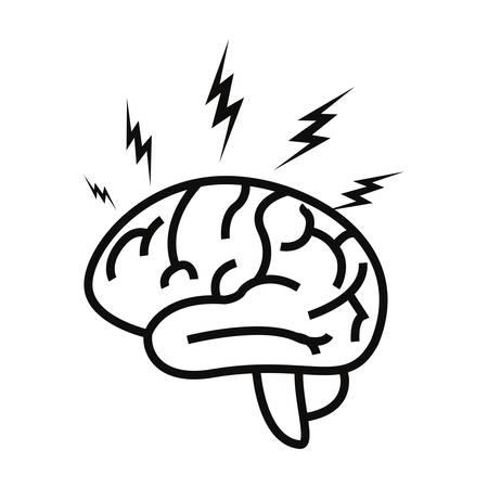 human brain organ on white background vector illustration Stock Illustratie