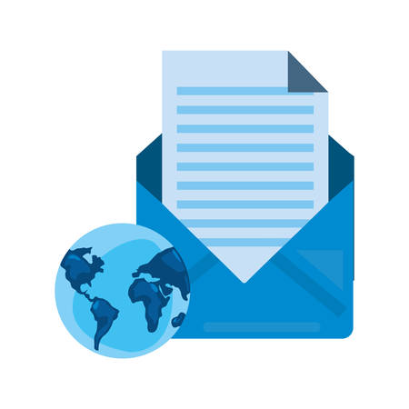 world email message cybersecurity data vector illustration