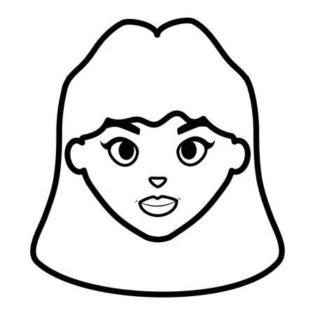 beautiful woman head character vector illustration design Ilustração