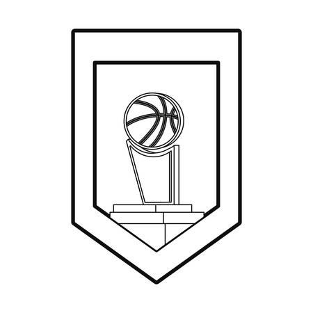 basketball trophy award sport stamp vector illustration Illusztráció