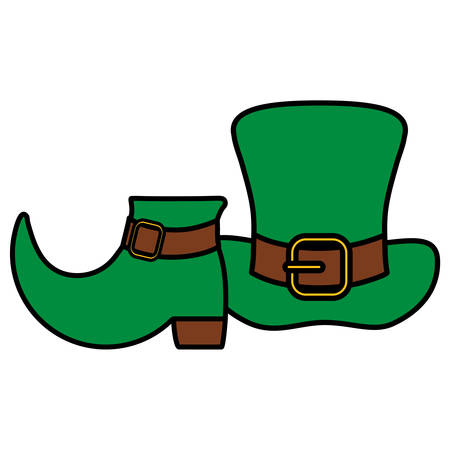 st patricks leprechaun hat with boot vector illustration design 写真素材 - 130081952