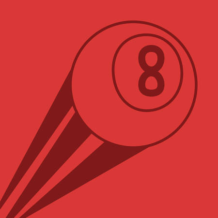 flying billiard ball sport vector illustration design Illusztráció