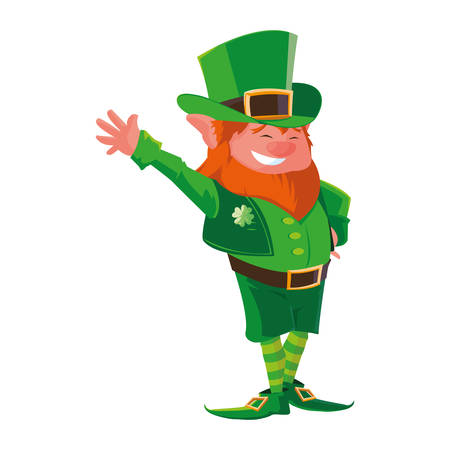 saint patrick lemprechaun character vector illustration design 写真素材 - 129976847