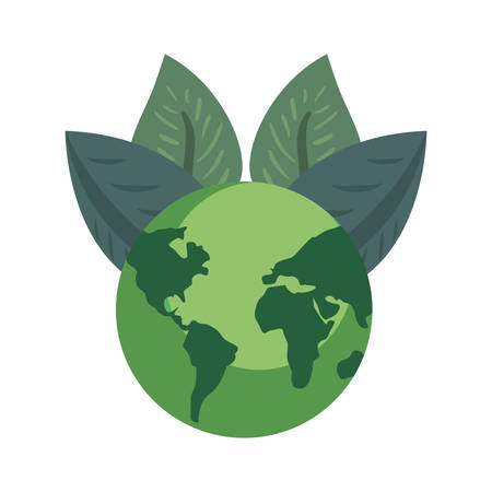 world natural leaves earth day vector illustration Illusztráció