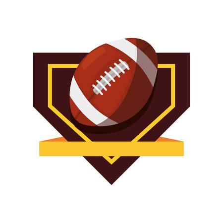 rugby ball sport emblem banner vector illustration design