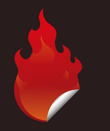 fire  design over black background, vector illustration