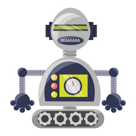 cartoon robot icon over white background colorful design vector illustration Reklamní fotografie - 130156043