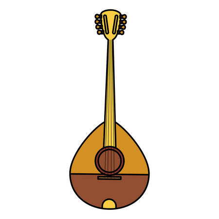 bouzouki instrument isolated icon vector illustration design