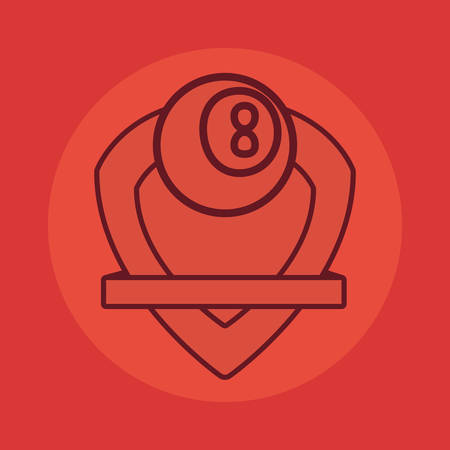 billiards ball sport emblem banner vector illustration design Illusztráció