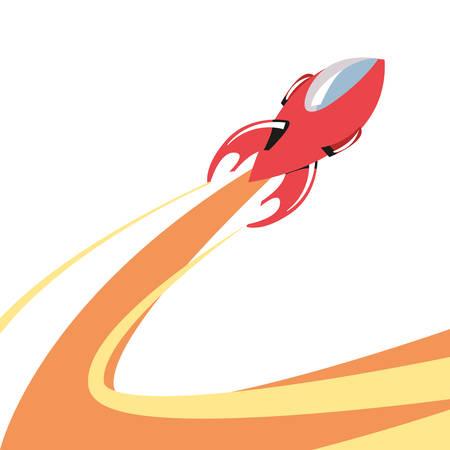 rocket launch travel galaxy vector illustration design Фото со стока - 130135114