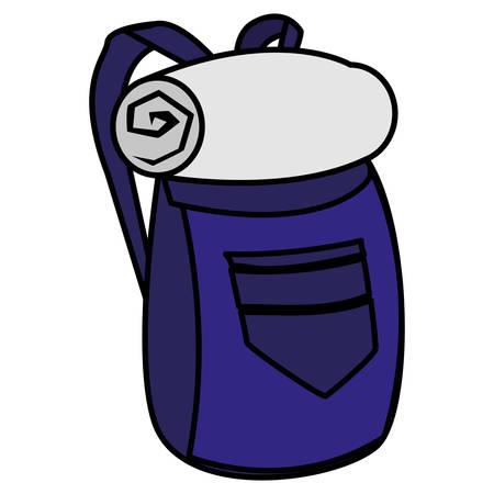 adventurous travel bag icon vector illustration design Illustration