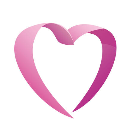 pink love romantic heart vector illustration design