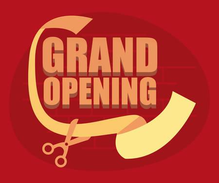 commercial grand opening scissors vector illustration design Banco de Imagens - 130135069